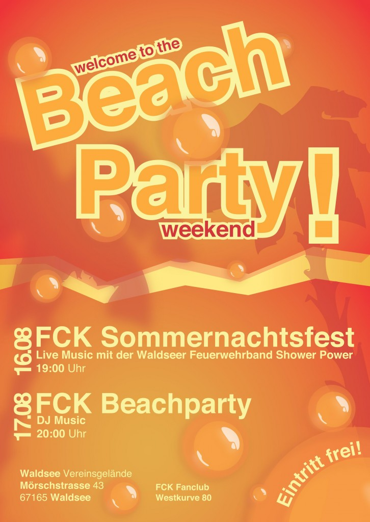 Flyer Sommerparty 2013